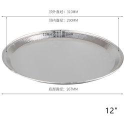 """12 """"가정 상업적인 오븐 피자 팬 처분할 수 있는 큰접시 알루미늄 호일 접시 은종이 피자 팬 굽기"""