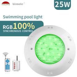 Piscina a LED subacquea con montaggio superficiale remoto RGB IP68 da 25 W. Leggero