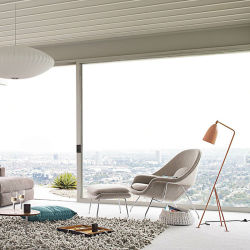 子宮の椅子のフィートのステップの簡単な単一のソファーの椅子または北欧の現代布の芸術の余暇の肘掛け椅子または不精なLoungerの椅子