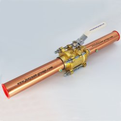 Kogelklep van het Messing van het Gas van de zuurstof de Chemische 3PC Met de Buis van het Koper