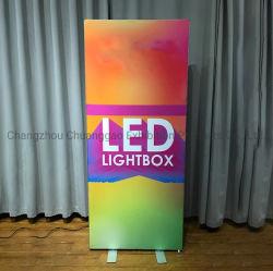 Publicidad ultraligero de alta calidad caja de luz con tela impresión para el stand de exposiciones