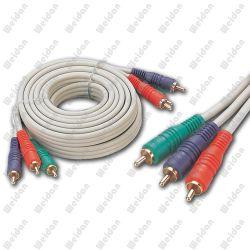 3RCA Cable RGB componente para HDTV DVD Vídeo de 50 pies (WD14-004)