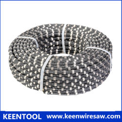 11,5mm de fio de Diamante de borracha com esferas de diamantes sinterizados para corte da Pedreira de Pedra Natural