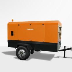 2021 Venta caliente Control Remoto de altas prestaciones industriales 200-1600 cfm Muebles móviles portátiles de tornillo impulsado por motor Diesel rotativo tipo directo del compresor de aire para la minería