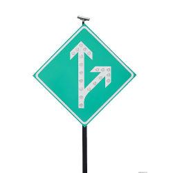 태양 소통량 도로 거리 경로 표시기 Guideboard 명찰 경고 속도 도보 교차하는 가벼운 방향 표시