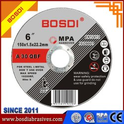 Melhor qualidade de disco plano/Disc/abrasivo da Roda de óxido de alumínio 6'' 150mm, roda de corte/Disc/Disco, Produtos de Metal