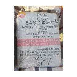 64# entièrement blanc raffiné de la cire de paraffine solide pour prévenir ou de crayons de cire de bougie