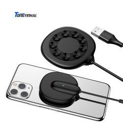Tongyinhai携帯用取付可能なチーの無線充電器の車の携帯電話のための速い充満パッドの充電器端末