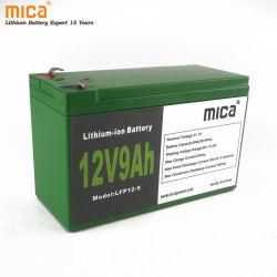 سعر المصنع بطارية ليثيوم أيون 1فولت 1V 12 فولت 9AH مع BMS بطاريات LFP القابلة للشحن LFPO4 دورات عميقة لعيشUPS PV الطاقة الشمسية