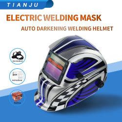 La energía solar ajustable automático de la atenuación del protector facial Head-Mounted soldadura soldadura casco casco de la luz de la soldadura