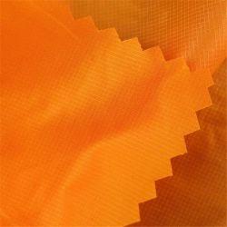 중국 공급사 15D 100% 나일론 Ribstop PD WR 오일 바시 윈드브레이커용 밀키 코팅 소재