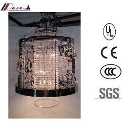 China-Rabatt-klassisches schwarzes Metallhohler hängender Kristallleuchter