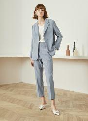 2021 moda primavera otoño Ocio Oficina de la mujer de negocios uniforme azul de estilo coreano elegantes trajes de Lady's
