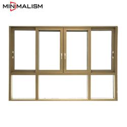 100 ألومنيوم [سليد ويندوو]/فناء [ويندووس] 3 أثر مع زجاج [لوو-]/شرفة/نقطة معيّنة زجاج/ألومنيوم مادة/[شمبن/1.4مّ] كسر حراريّ