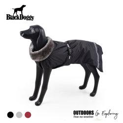 OEMの供給の毛皮カラー様式の冬のジャケットの羊毛のライニングは大きい品種犬のための服装に着せる