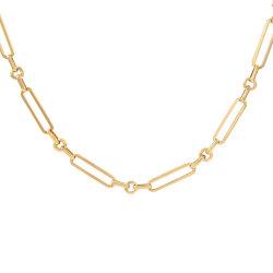 Fashion bocados Clipe Colar curto 18K banhado a ouro de Aço Inoxidável jóias para Mulheres