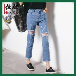 Fashion Sexy Skinny Stretch calças de ganga para senhora