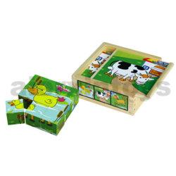 Del lado del cubo de madera 6 Puzzle (80147)