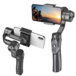 Eje de dirección ajustable de 3 mano Smartphone Selfie Stick para Gimbal soporte para teléfono estabilizadores