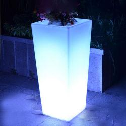 Светодиод горит пластиковые Flower Pot современная садовая мебель для продажи