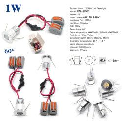 AC 120V 220V 1W Mini LED lampe de plafond Ce Spot à lumière du Cabinet