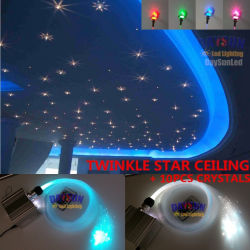 Neuer RGBW LED Twinkle-Stern-Deckenleuchte-Installationssatz mit HF Fernsteuerungs mit Faser-Kabel und Kristallen für Raum-Decke oder Auto-Decke