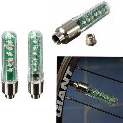 7 LED-rotes blaues englisches Zeichen-Bildschirmanzeige-Speiche-Rad-Licht-Blitz-Ventilverschraubung-Reifen-Licht