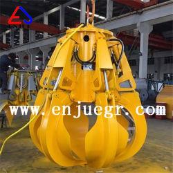 5t hidráulica Eléctrico del Motor de la cáscara de naranja coge la cuchara para viajar grúa