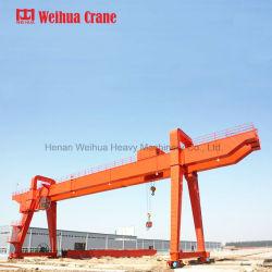 Weihuaの二重ガードの移動可能な80tonガントリークレーン