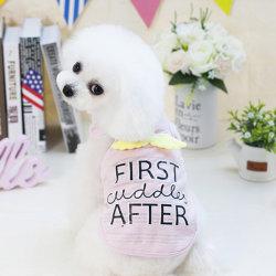 メス犬はカスタムロゴペットペットパジャマペットばねのワイシャツに着せる