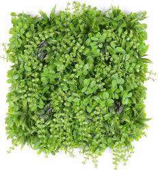 Anti-UV retardante de fuego artificial de plástico PE frescos planta verde follaje de hojas de la pared de panel 3D de la privacidad de la flor de Jardín Vertical de hierba de cobertura de la pantalla de cerco