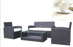 Populäre graue synthetische Rattan-Garten-Möbel