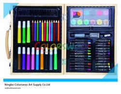 68 PCS Drawing Art Set em Wooden Box para Kids e Students