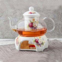 Insieme di ceramica stabilito del tavolino da salotto del pranzo di tè dell'insieme della porcellana di caffè del piattino di ceramica della tazza