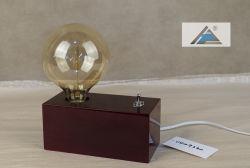 Caja de madera cuadrada de la luz de lámpara de mesa decorativos Vintage