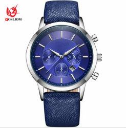 Manier de van uitstekende kwaliteit & het Toevallige Horloge #V804 van het Horloge van het Merk van het Leer van de Luxe