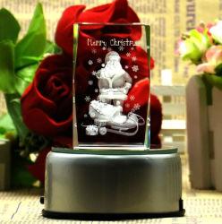 Christmas Gift를 위한 3D Laser Crystal Glass Cube Craft