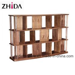 Salón de madera maciza en color nogal Bookshelf