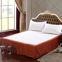 2018 nouveau style de lit d'hôtel jupe en tissu de chenille