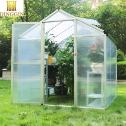 Casa geométrica Decoração de flores de aquecimento