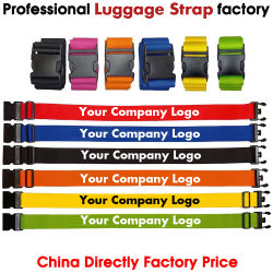 Correia de maleta com Logotipo do Cliente, Sala de pulso, Mala a tiracolo, Sala cinto, Correia da Caixa do carrinho, correia de poliéster, promocional de correia,