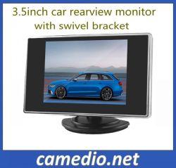 Monitor de estacionamiento de espejo de 3,5 pulgadas con 2 AV