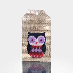 Hangtag di tela personalizzato di marchio della stampa del tessuto di figura