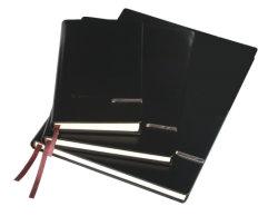 Спиральная обязательного ноутбук с черным PU жесткий футляр