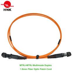 MTRJ fibre optique multimode en duplex 1.8mm câble patch