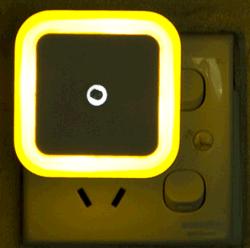 Электрические розетки управления датчик света лампы с одной спальней оформлены Светодиодный ночник