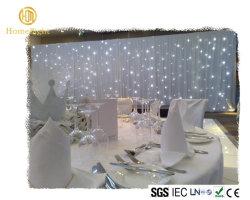 Белый свет 3*4 Свадебные драпировкой на фоне шторки LED Star шторки