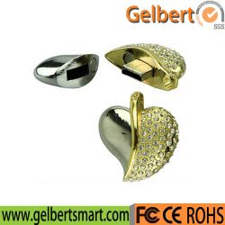 В форме сердечка флэш-накопителей USB драйвер USB с алмазной