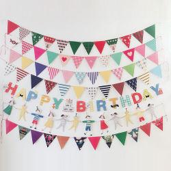 Lettre de la décoration de mariage en plein air Bunting papier bannière Tassel drapeaux