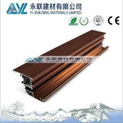 El grano de madera para el aislamiento térmico de aluminio Frmae ventana